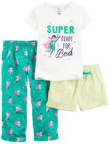 Carter's Girls 4-14 3-pc. Print Pajama Set