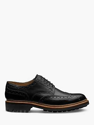 Grenson Archie Leather Gibson Brogues, Black