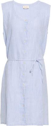 American Vintage Striped Linen Mini Dress