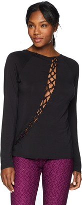 Trina Turk Recreation Women's Soft Knit Scoop Neck Wrap Tee