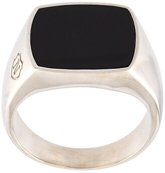 Nialaya Jewelry Onyx Cocktail Ring