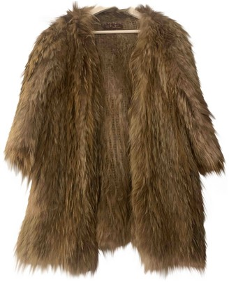 No Name Brown Raccoon Jacket for Women