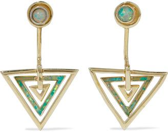 Noir Zella 14-karat Gold-plated Stone Earrings