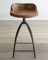 Arteriors Wood Swivel Counter Stool