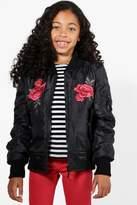 boohoo Girls Embroidered Bomber Jacket