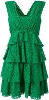 No.21 layered lace dress - women - Cotton/Polyamide/Acetate/Silk - 42