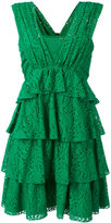 No.21 layered lace dress - women - Silk/Cotton/Polyamide/Acetate - 42