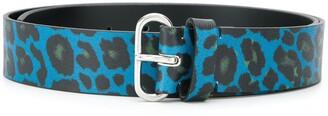 Paul Smith leopard print belt