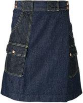 Comme des Garcons wrap front shorts