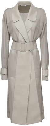 Agnona Cotton Blend Trench Coat W/ Belt