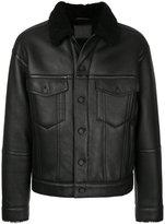 Alexander Wang fur collar jacket