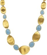 Marco Bicego 18K Yellow Gold Lunaria Collar Necklace with Aquamarine, 18""