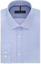 Tommy Hilfiger Men's Slim-Fit Non-Iron Blue Cloud-Print Dress Shirt