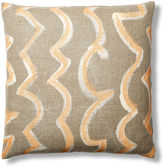 Dransfield and Ross Twister 30x30 Pillow, Natural/Orange