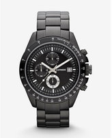 Express chronograph watch - black