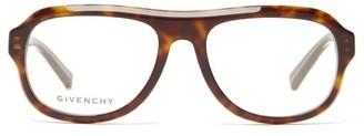 Givenchy Aviator Tortoiseshell-acetate Glasses - Tortoiseshell