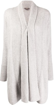 N.Peal Vertical Rib Placket Cardigan