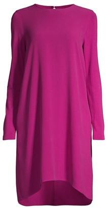 Eileen Fisher Silk Georgette High-Low Dress