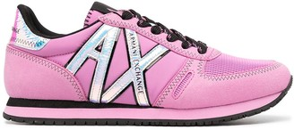 Armani Exchange Side-Logo Lace-Up Sneakers