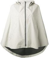 Herno hooded cape jacket - women - Polyester/Fluorofibra - 40