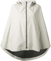 Herno hooded cape jacket - women - Polyester/Fluorofibra - 44