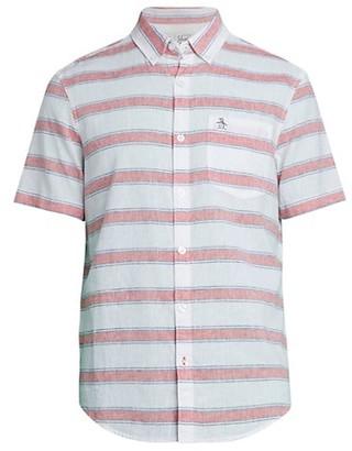 Original Penguin Stripe Linen Cotton Shirt