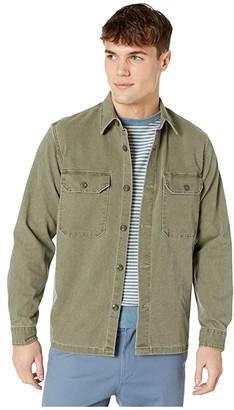 J.Crew Wallace Barnes Stretch Duck Canvas Long Sleeve Work Shirt (Desert Olive) Men's Clothing