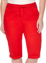 Liz Claiborne Cropped Cargo Pants - Plus