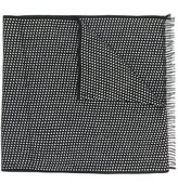 Canali spotted fringed scarf
