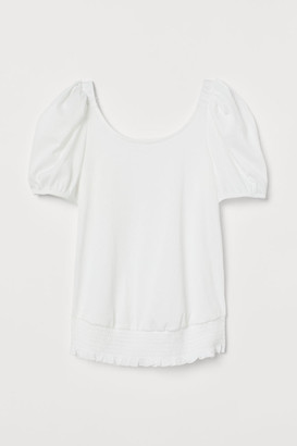 H&M MAMA Puff-sleeved top