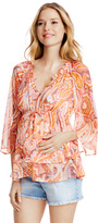 Motherhood Jessica Simpson Tie Front Maternity Blouse