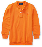 Ralph Lauren Childrenswear Long-Sleeve Cotton Mesh Polo