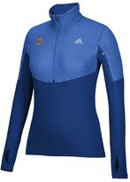adidas Women's New York Knicks Team Logo 1/2-Zip Pullover