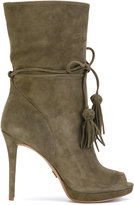 MICHAEL Michael Kors open toe boots - women - Leather/Suede/Polyester/rubber - 5