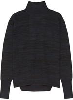 Dion Lee Open-back Mélange Merino Wool Sweater - Midnight blue