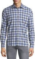 Neiman Marcus Flannel Plaid Cotton Sport Shirt