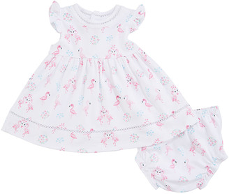 Kissy Kissy Flowering Flamingos Dress w/ Matching Bloomers, Size 6-24 Months