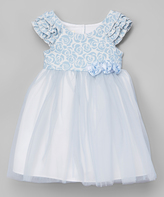 Laura Ashley Blue & White Tulle Dress - Toddler & Girls