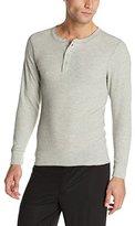 Hanes Men's Big Red Label X-Temp Thermal Shirt Long Sleeve Henley Top