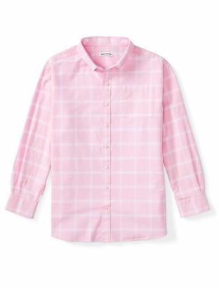 Amazon Essentials Men's Big and Tall Big & Tall Long-Sleeve Windowpane Pocket Shirt