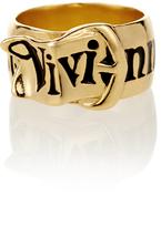 Vivienne Westwood Gold Belt Ring Size L