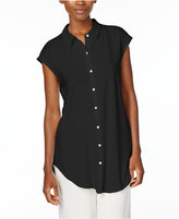 Eileen Fisher Jersey Cap-Sleeve Shirt, Regular & Petite