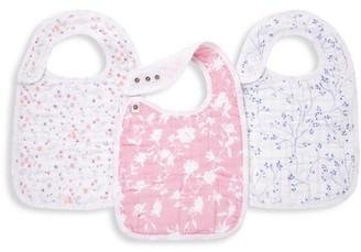 Aden Anais Baby Girl's 3-Piece Mon Fleur Muslin Bibs