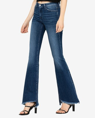 Express Flying Monkey Mid Rise Bell Flare Jeans