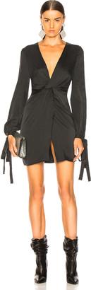 Amiri V Neck Short Dress in Black | FWRD