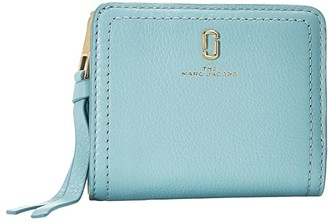 Marc Jacobs The Softshot Mini Compact Wallet (Silent Blue) Wallet Handbags