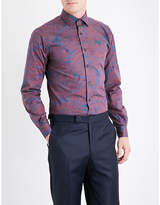 Duchamp Abstract pailey-patterned tailored-fit cotton shirt