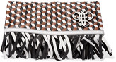 Emilio Pucci Fringed woven leather fold-over clutch