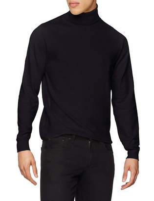 French Connection Men's Stretch Cotton Roll-Neck Turtleneck