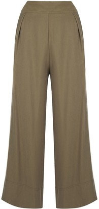 Natori Cropped Wide-Leg Trousers